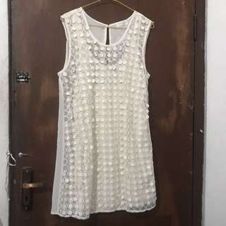 Almost NEW Zara White Dress