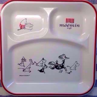 嚕嚕米白色餐盤Moomin 23x23公分 日本嚕嚕米餐廳帶回