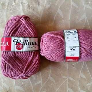 🈹減價🈹🎉SALE🎉全新英國制Sirdar純羊毛暗粉紅色毛冷球 Brand New Sirdar Dusty Pink Pure Wool Knitting Yarns