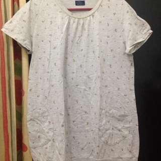 Grey Flower Tshirt
