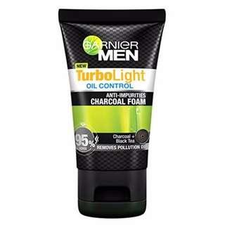 Garnier Men Turbo Light Charcoal Black Facial Foam (50ml)