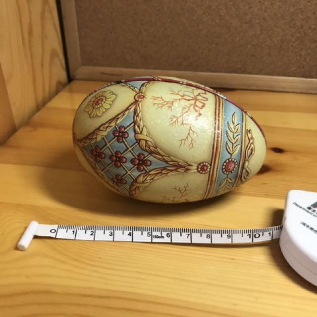 [雜物](70%新)鐵製 復活蛋 盒