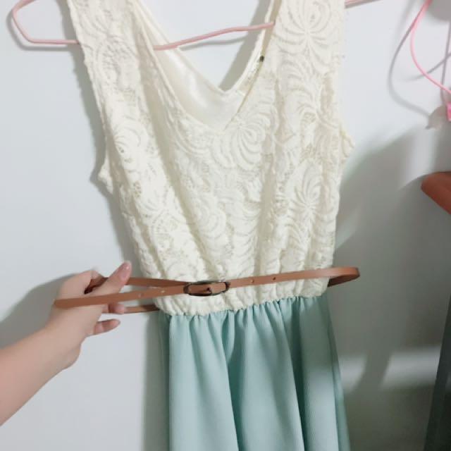 韓國蕾絲花小洋裝