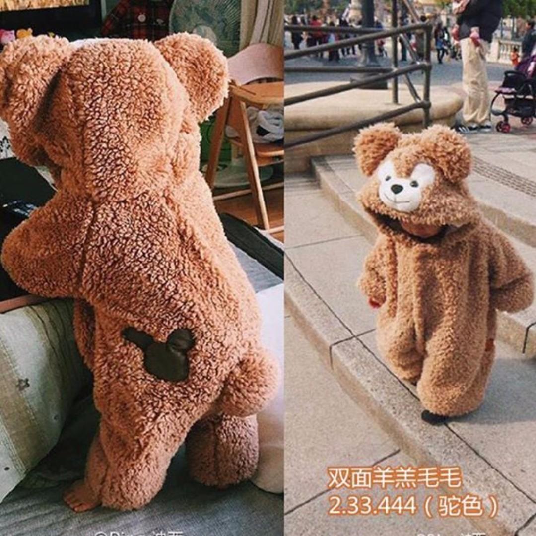 日本制 熊熊加厚加絨刷毛連身衣