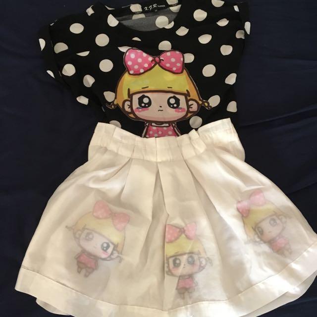 減齡可愛娃娃套裝裙