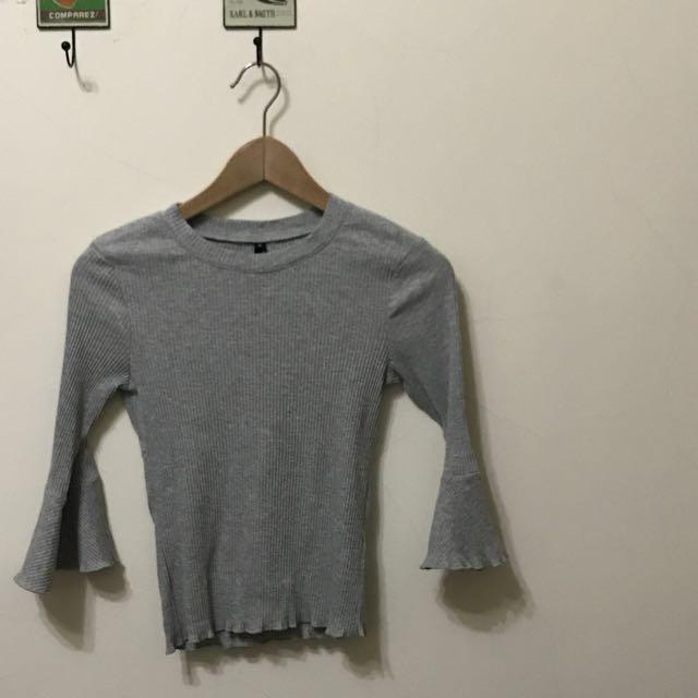 羅紋設計袖上衣