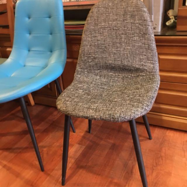 北歐風亞麻布餐椅