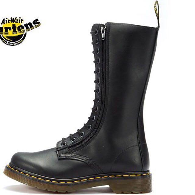 正版 二手馬丁靴 14孔 黑色