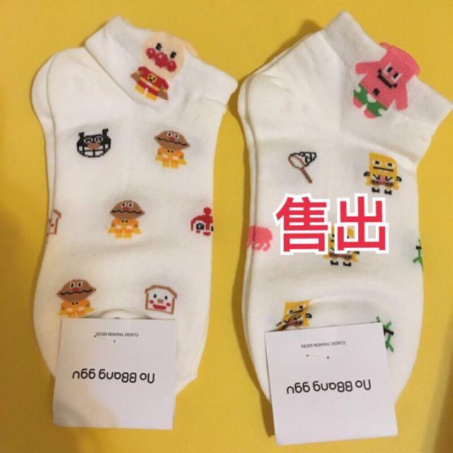 (全新現貨)韓國代購 麵包超人卡通襪 短襪 襪子控