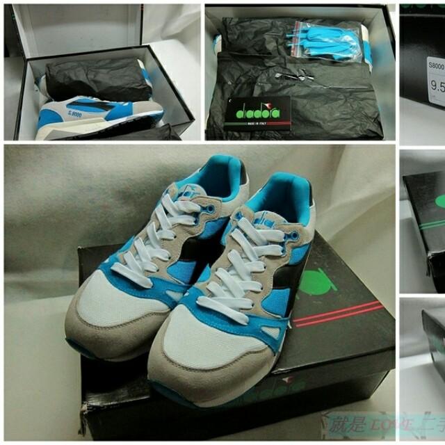 {就是愛二手} 義大利品牌 DIADORA S8000 NYL ITA 男 全新 藍白配色 義大利製 慢跑鞋 國寶鞋~