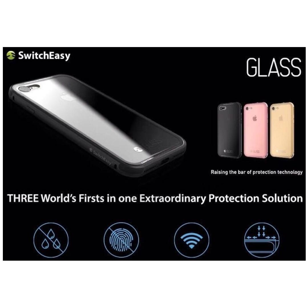 正版 現貨 SwitchEasy iPhone 7 / 8 4.7吋 iGlass 金屬邊框 7H玻璃背蓋 防摔殼