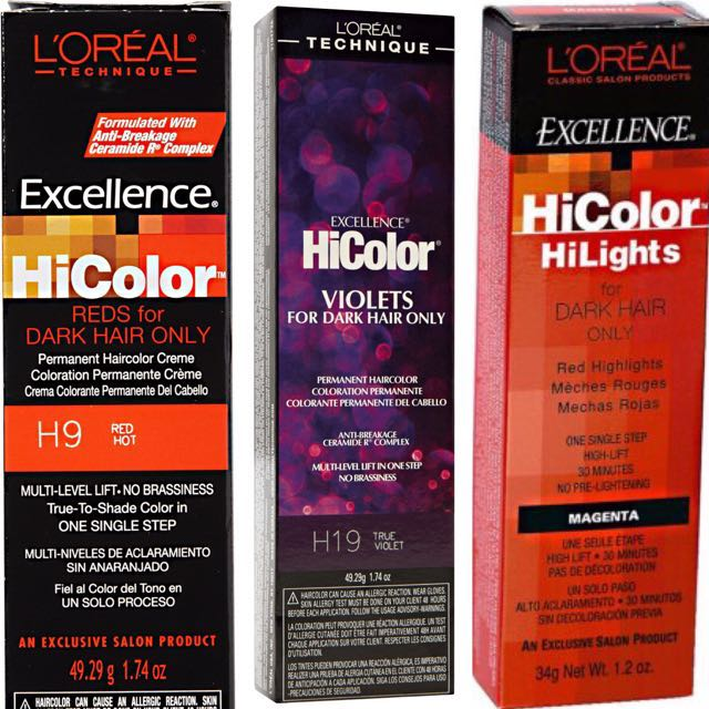 Loreal Excellence Hicolor Hilights Health Beauty Hair