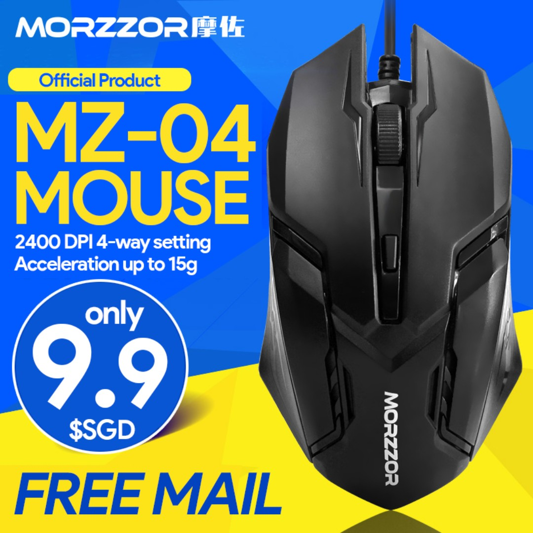 🆒 MZ-04 Gaming Mouse (2400DPI)