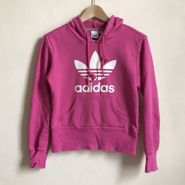 Adidas Pink Trefoil Hoodie