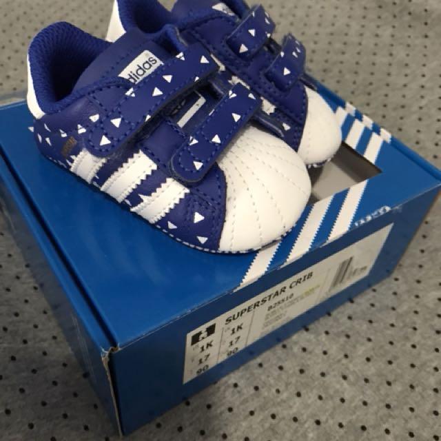 Adidas superstar crib shoes BNWT size 1k