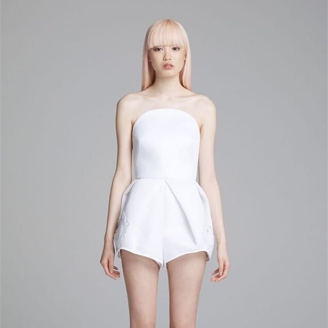 Alice McCall White I Am A Walrus Playsuit Small Sir Zimmermann Manning