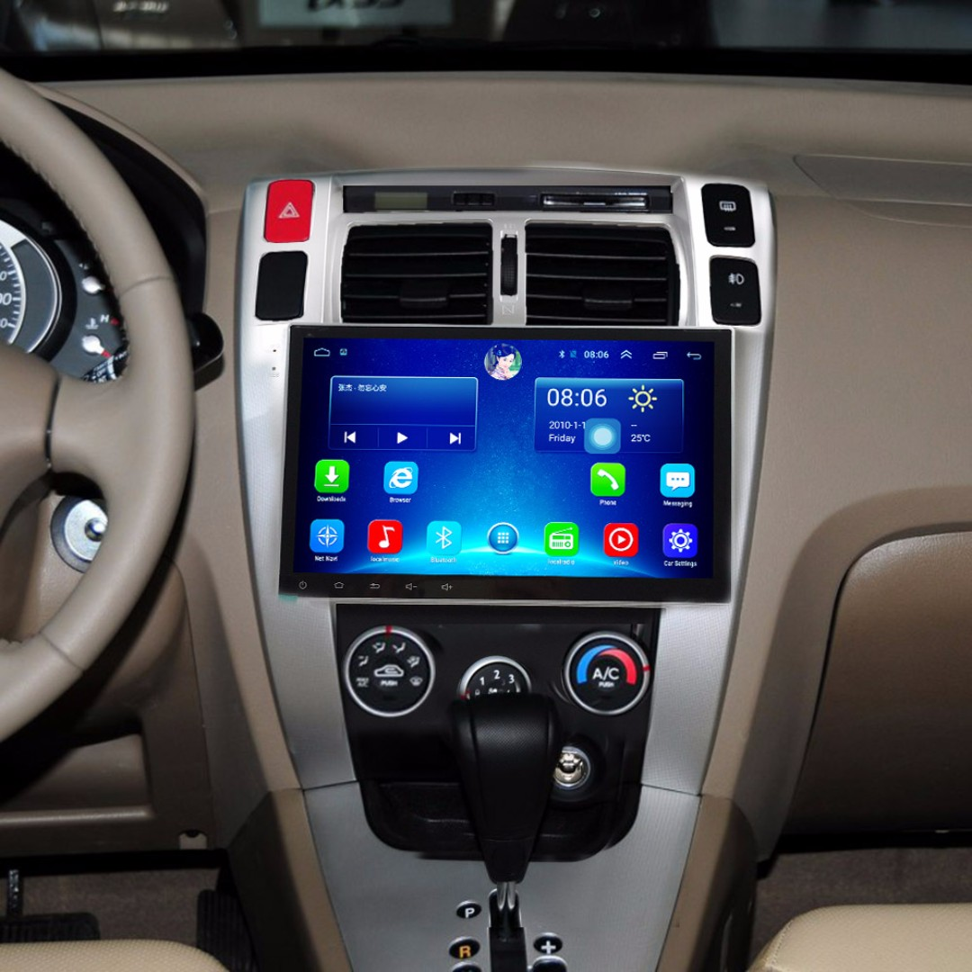 "Android 10.2"" display, car navigation, stereo, multimedia video, radio player for HYUNDAI TUCSON 2006-2014."