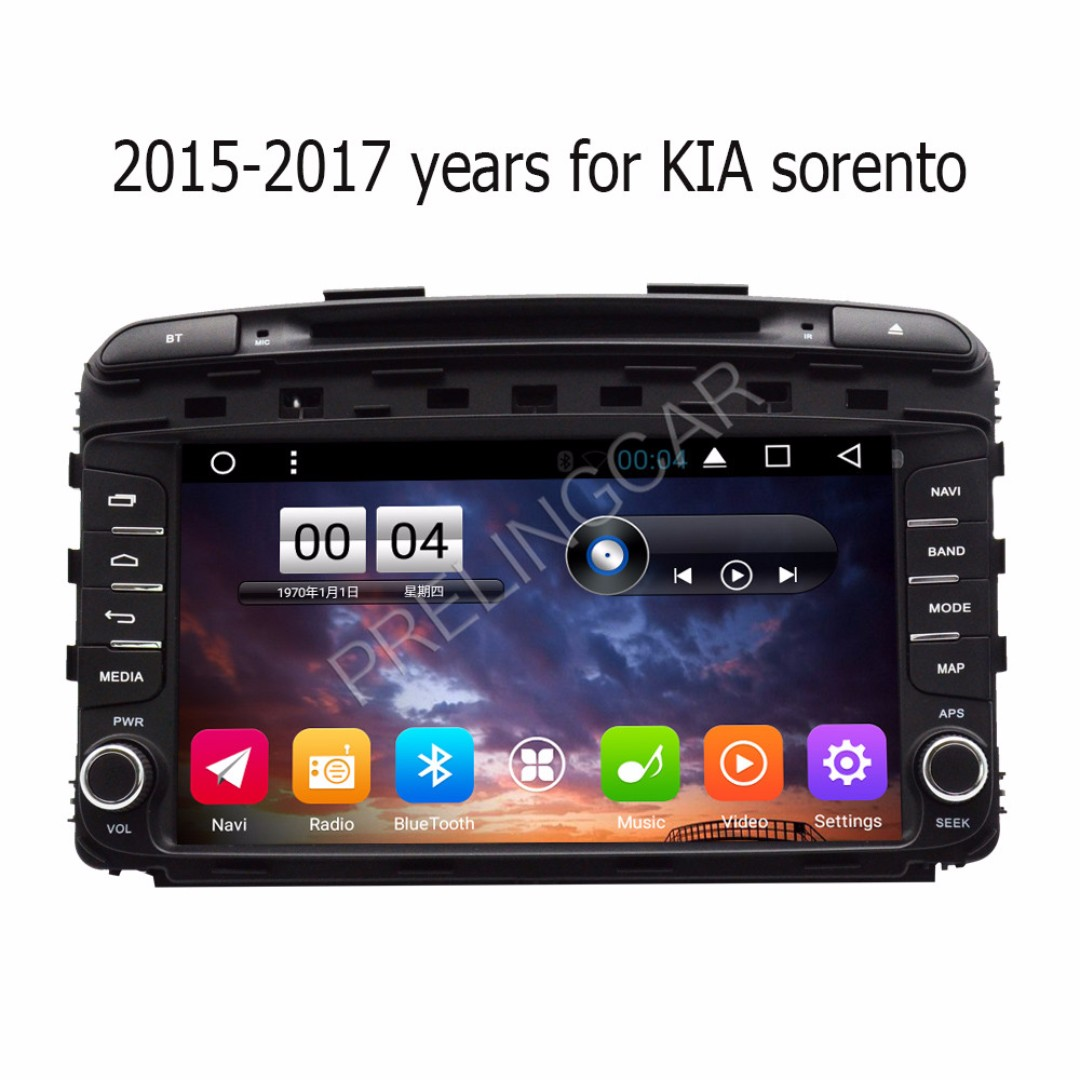 "Android 10.2"" display, car navigation, stereo, multimedia video, radio player for KIA SORENTO 2013-2017."