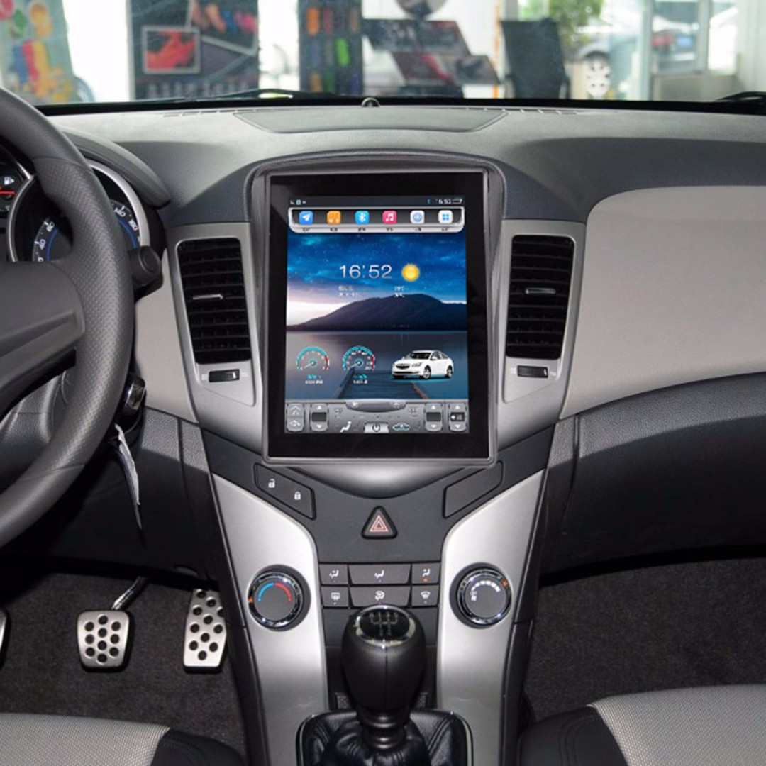 "Android 10.4"" vertical display, car navigation, stereo, multimedia video, radio player for Chevrolet CRUZE 2010-2015."