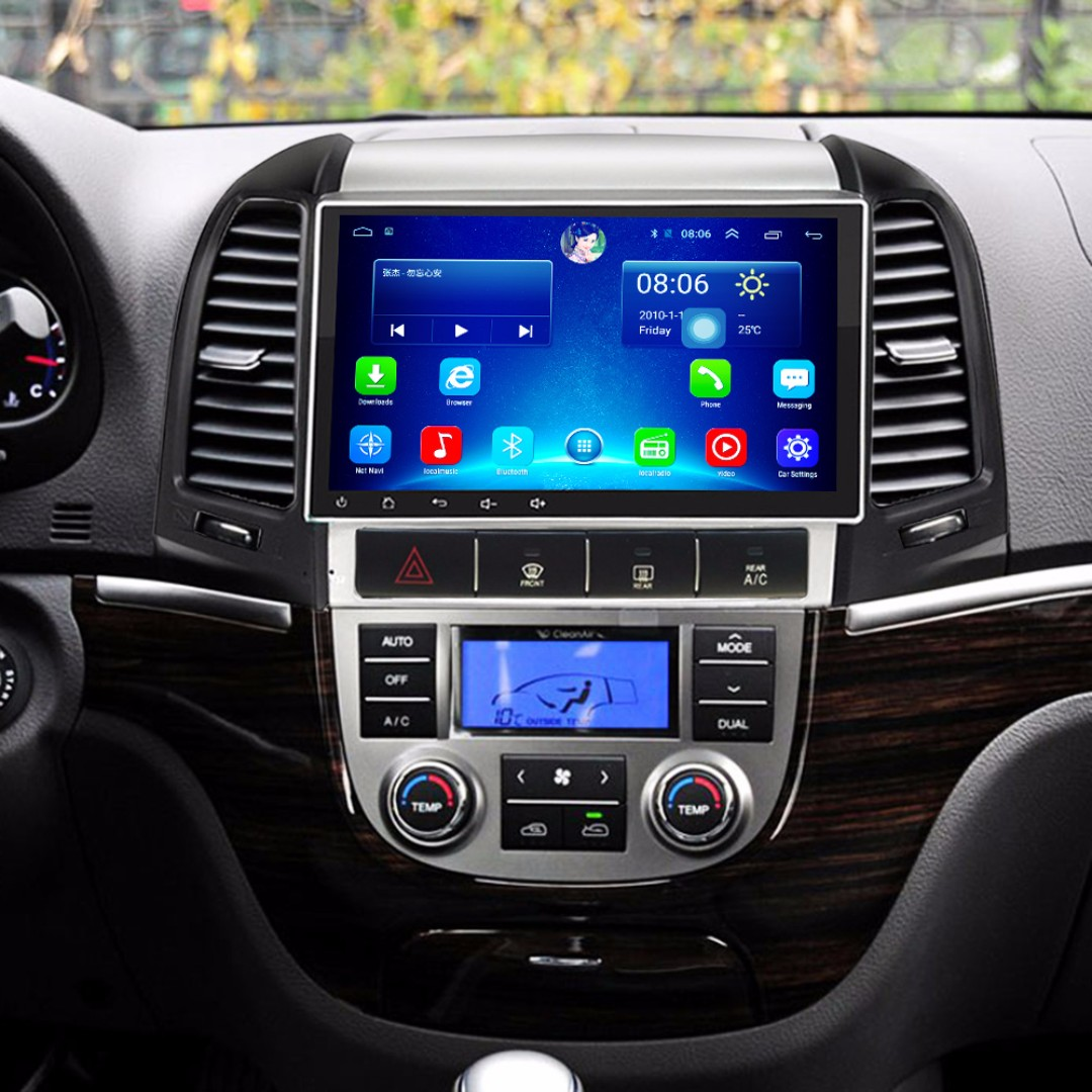 "Android 9"" display, car navigation, stereo, multimedia video, radio player for HYUNDAI SANTA FE 2005-2012"