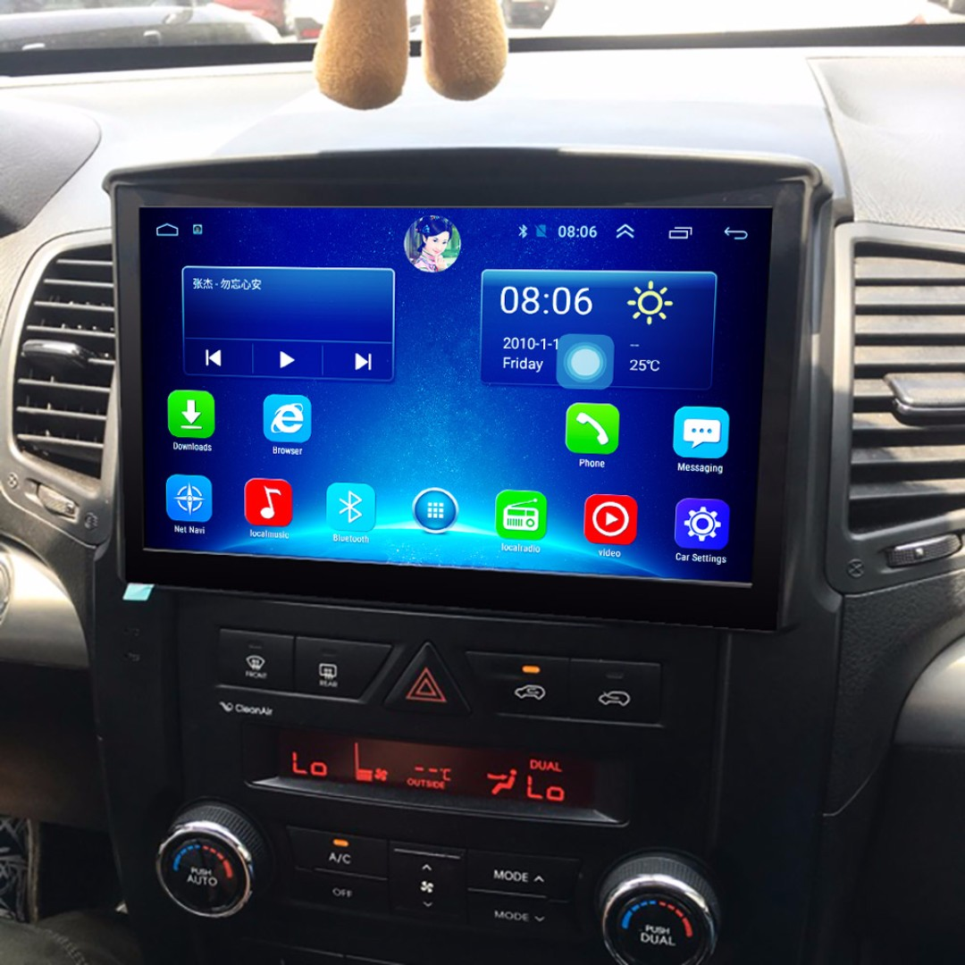"Android 9"" display, car navigation, stereo, multimedia video, radio player for KIA SORENTO."
