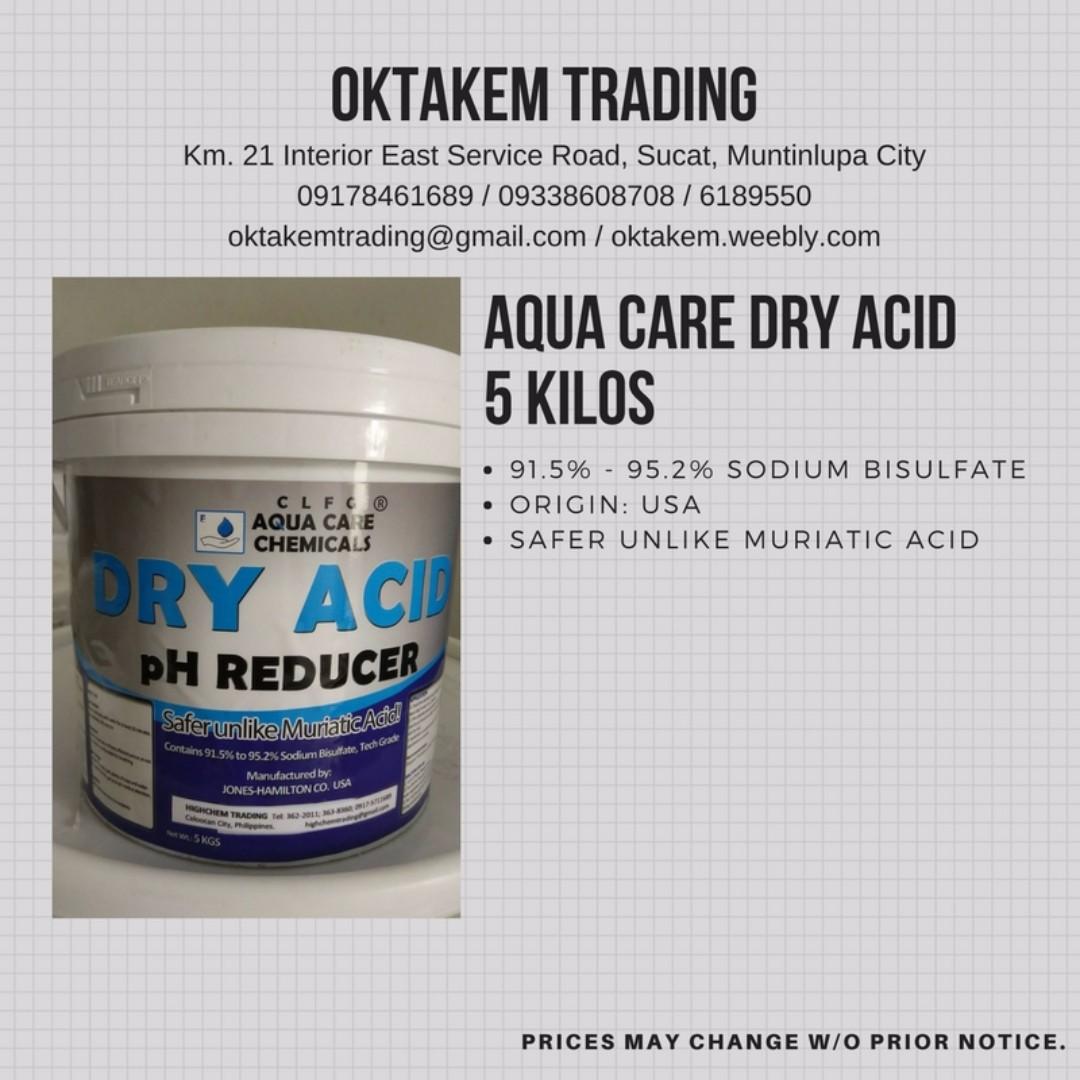 Aqua Care Dry Acid Safer than Muriatic Acid for Pools 5 kilos