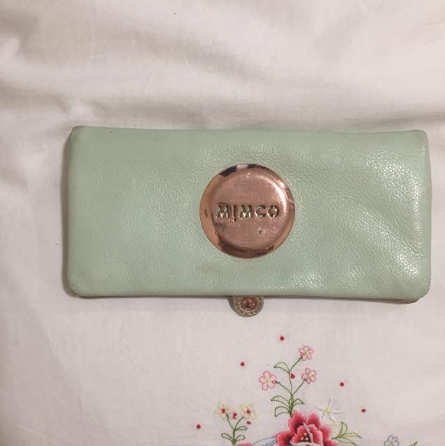 Aqua/green Mimco wallet