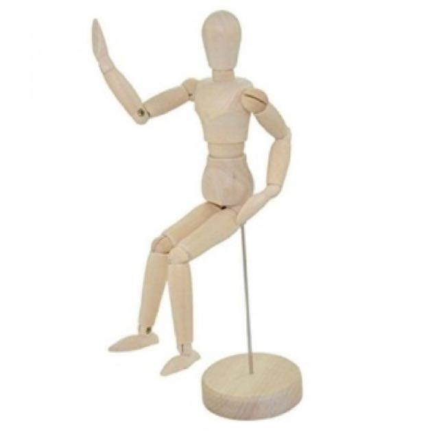 """Artist Male Wooden Figure Model with Movable Limbs for Sketching Drawing Aid Mannequin Manikin (5.5""""), Design & Craft, Others on Carousell"""