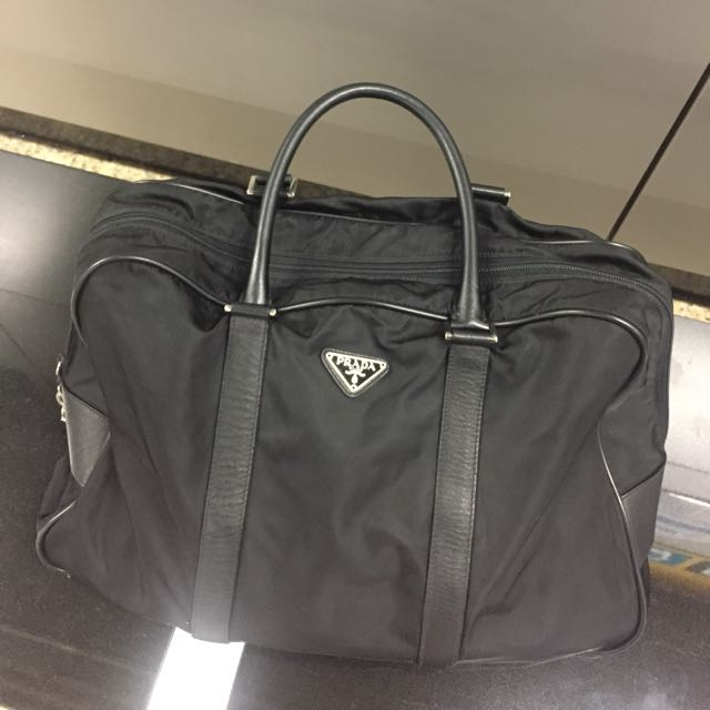 3cc7f803a810 ... promo code for authentic prada duffle bag nylon luxury bags wallets on  carousell 1da17 eb781