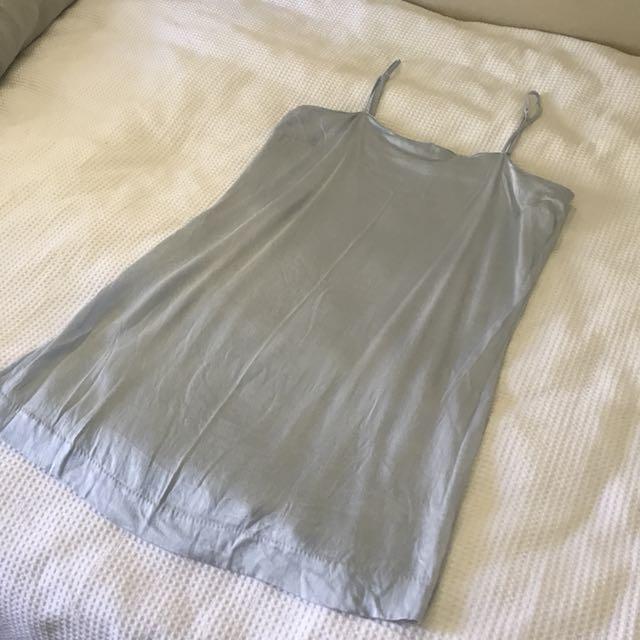 Baby Blue Silk Dress
