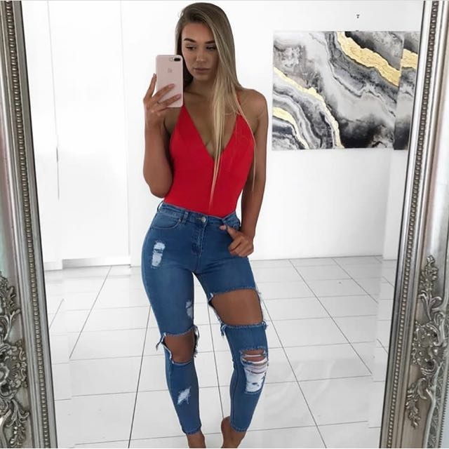Babyboo fashion ripped jeans