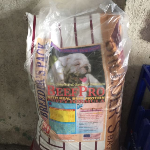beef pro 22kilos for puppy