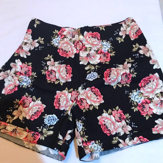 Bkk High Waist Short Pants Floral