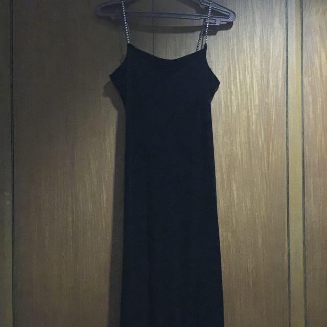 Black Spag Strap Dress Verve By Cinderella