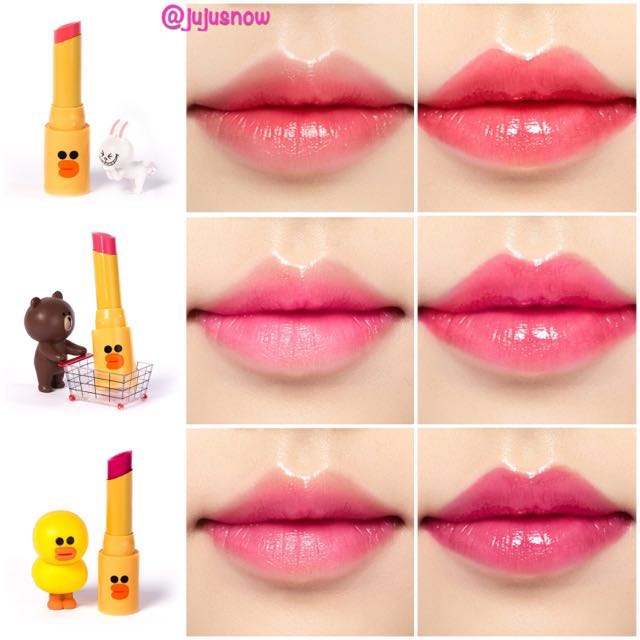BN Limited Edition Korea MISSHA x LINE Friends Lipsticks