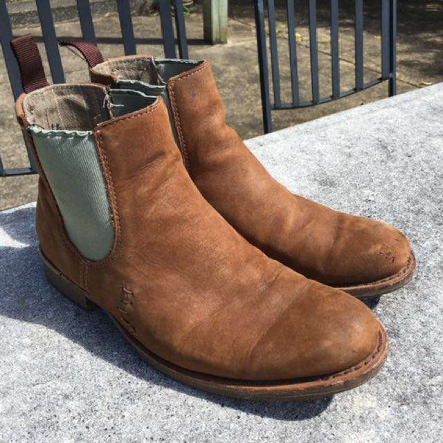 Brown Caterpillar Chelsea Boots