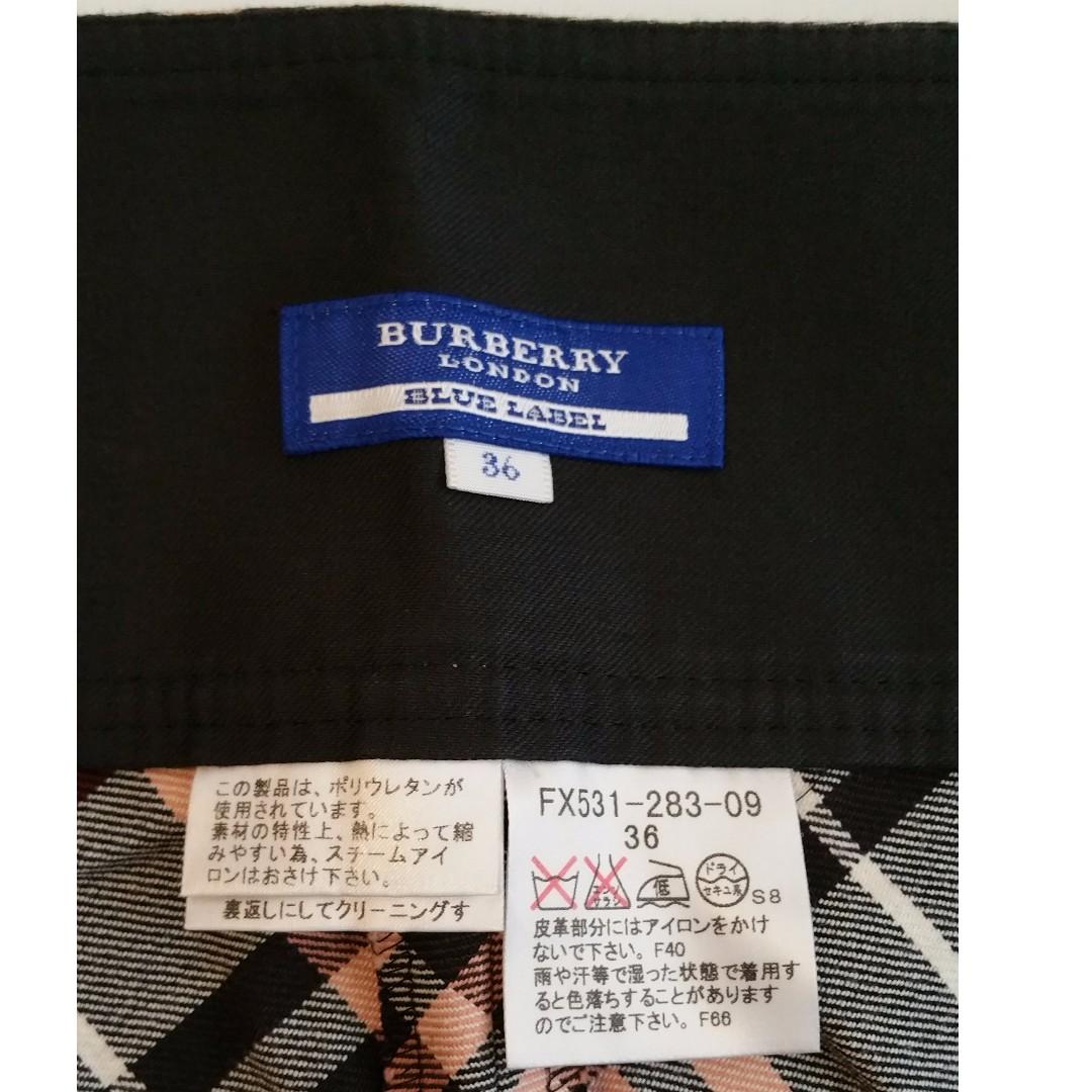 Burberry London Blue Label Pink Classic Plaid Pleated Wrap Skirt - Size 36 Japan