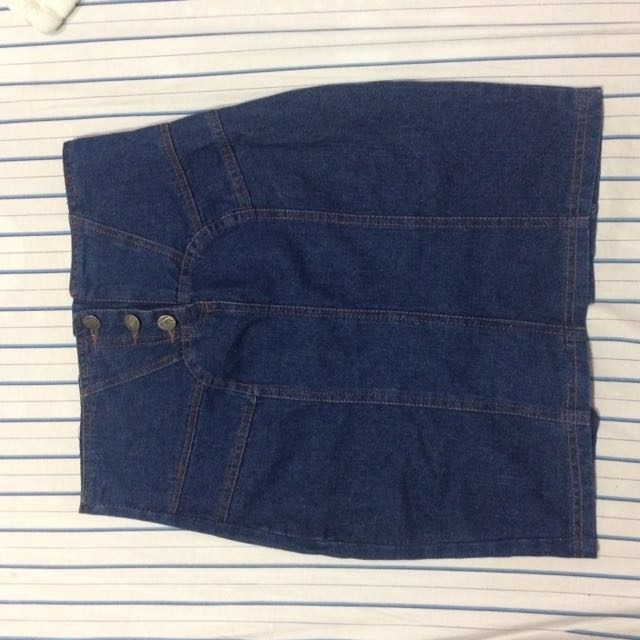 Buttondown Denim Skirt