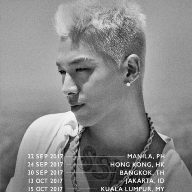 Taeyang World Tour 2020 Buy 2 and get the 3rd FREE! Taeyang World Tour White Night 3 CAT 1