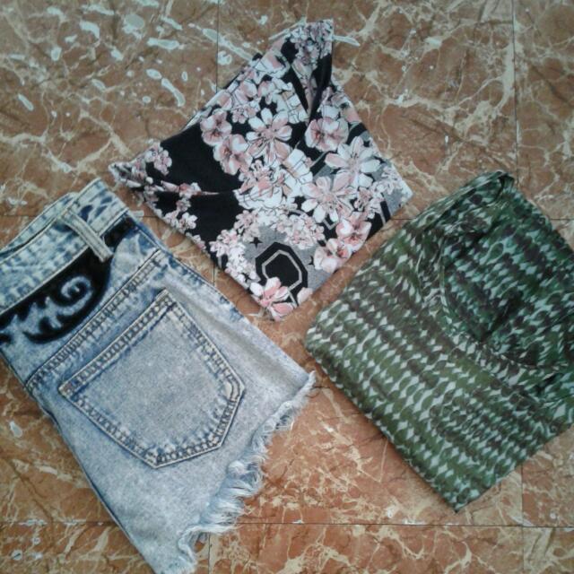 📍Buy 3 For 250📍HW Shorts,crop Top,peplum Top