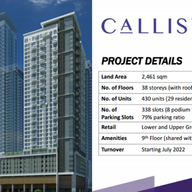 Calisto Circuit Makati Rare Very Limited Units !!!