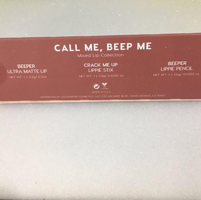 Call Me Beep Me Colourpop Lip Trio