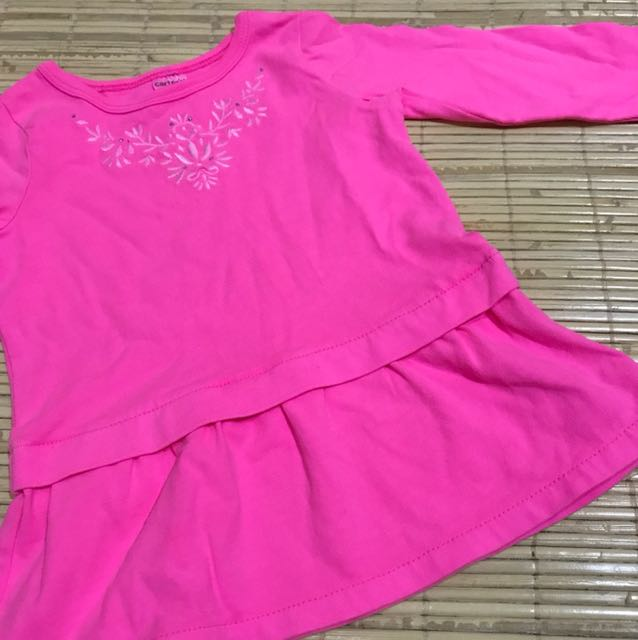Carters long sleeves pink