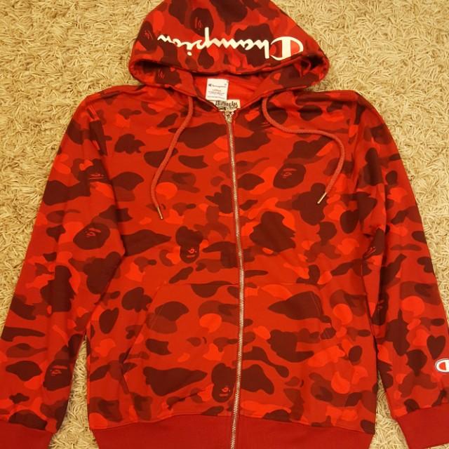 CHEAP A Bathing Ape Bape X Champion hoodie jacket sweater d06f92460