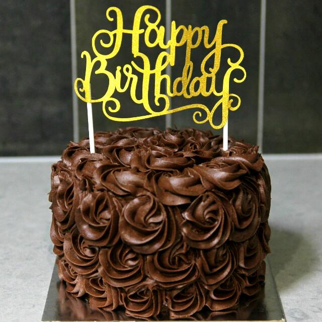Chocolate Rosette Cake Food Drinks Baked Goods On Carousell