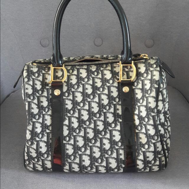 198f38fe5b50 Christian Dior TROTTER Boston Bag