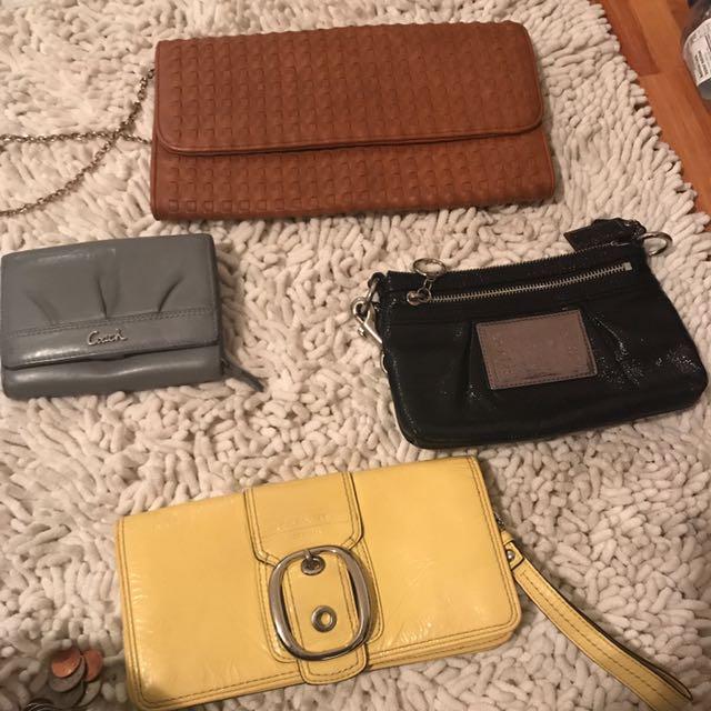Clutches and a wallet
