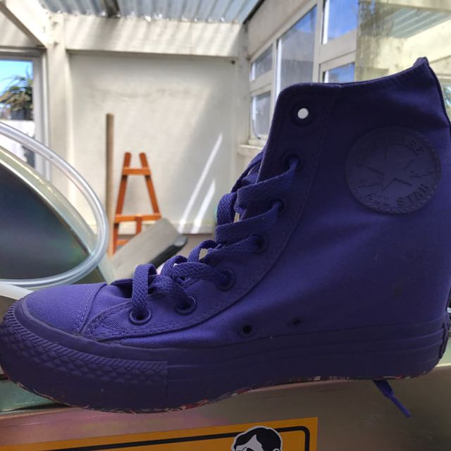 Converse Purple Heel Chucks