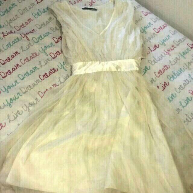 Cream Nique Dress