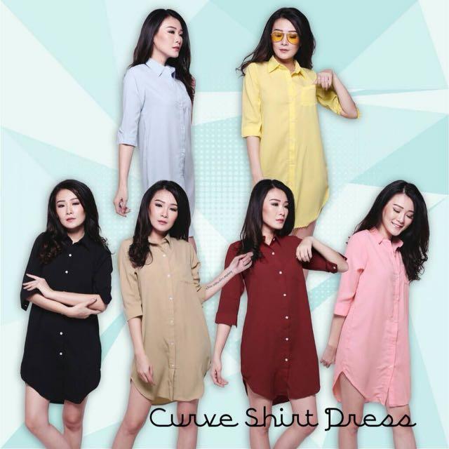CURVE SHIRT DRESS